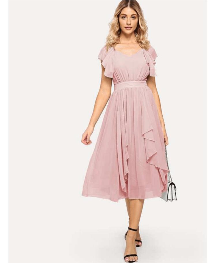 Lennier Sukienka Pudrowy Róż